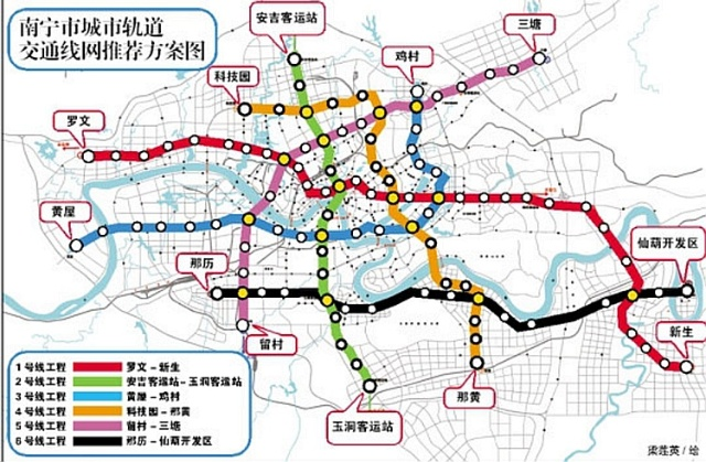南宁市轻轨建设的建议方案 南宁市民必看