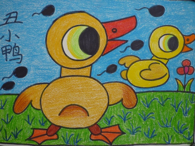儿童画水粉画教师范画