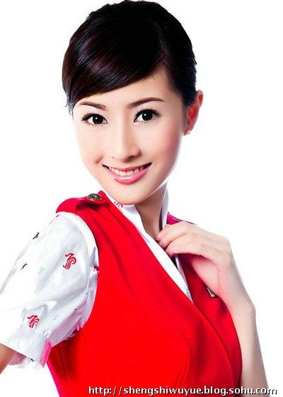 秘中国十大明星空姐图片