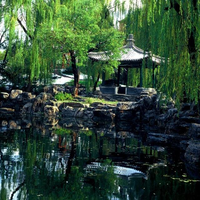 清华园里的名人雕像和纪念碑