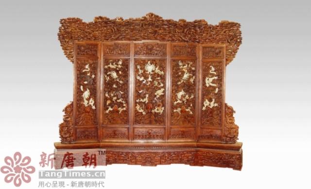 青岛新唐朝红木家具中式装修