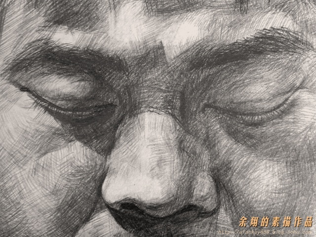 我的素描头像作品《沉睡中的500年》