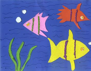 海底世界手工贴画图片