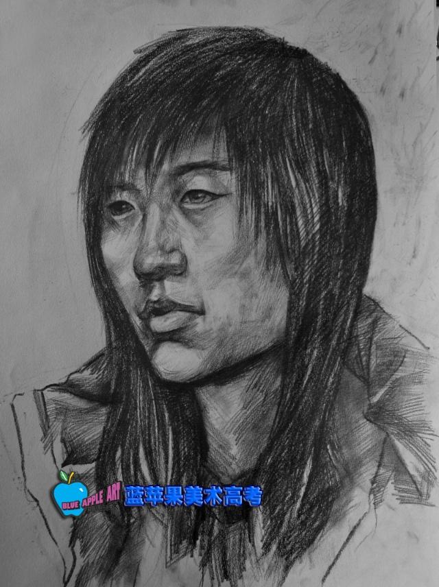师生素描头像写生作品展示-蓝苹果美术-搜狐博客
