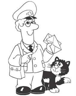 邮递员叔叔简笔画邮递员简笔画