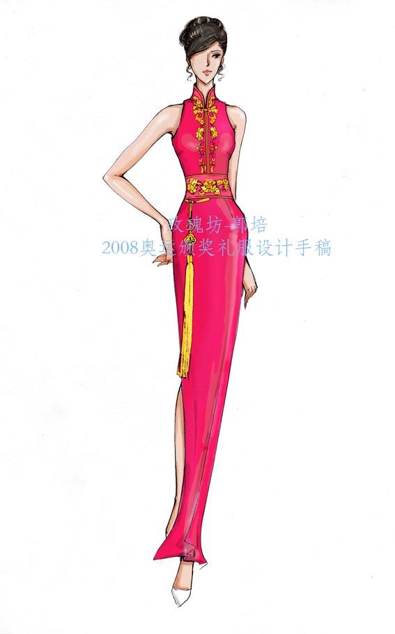 童装礼服设计图手稿展示