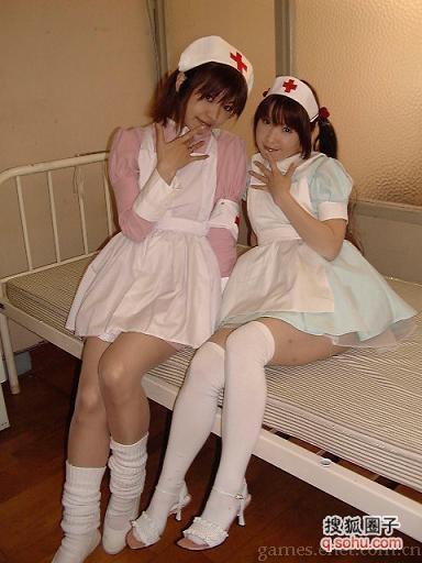 日本可爱护士服美少女大集合! 竖