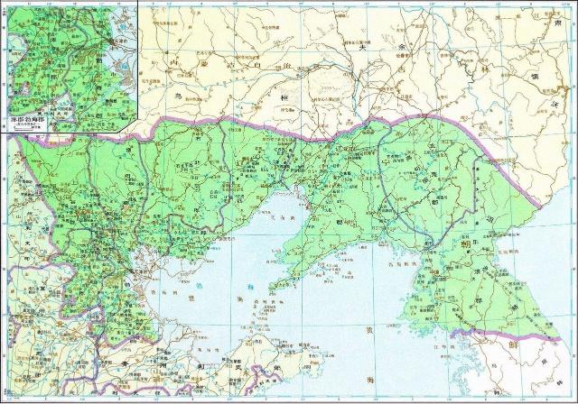 山东秦皇岛地图全图