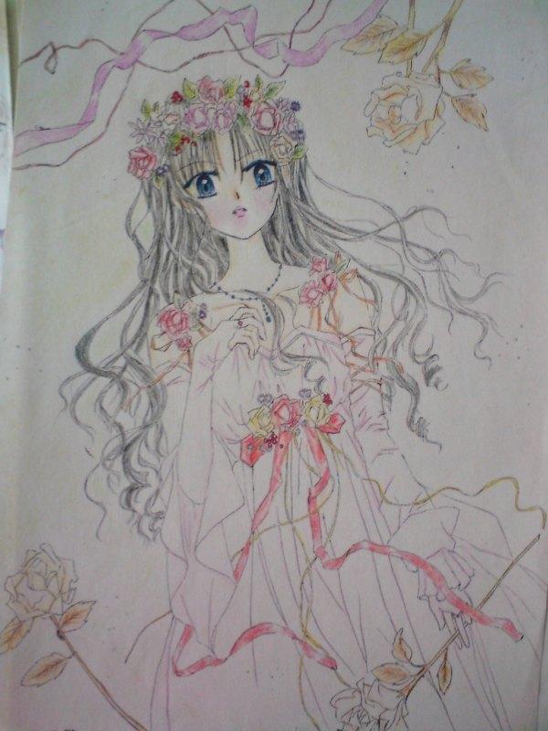 画面中的少女是个非常典型的美女公主:长头发,长裙子,大眼睛,小嘴唇.