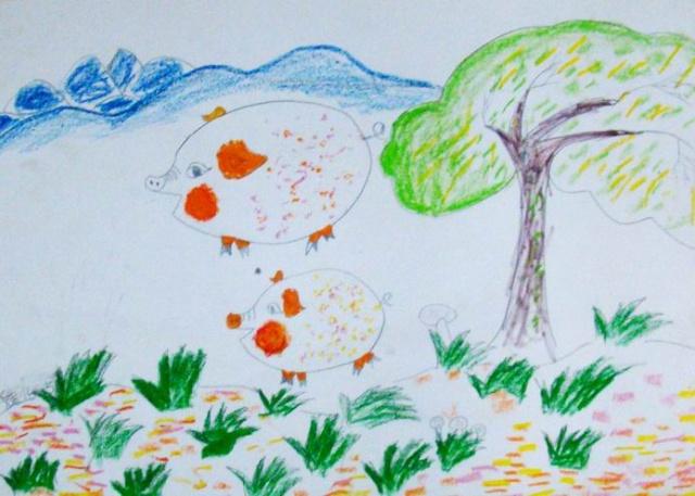 濡雅美术学生近期作品--儿童简笔画-濡雅美术研修