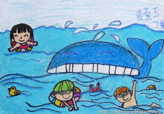 暑假三四周部分优秀儿童画作品