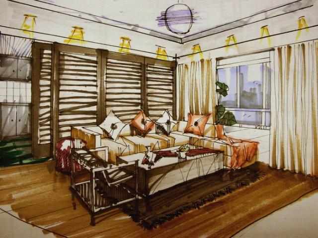 室内设计透视图