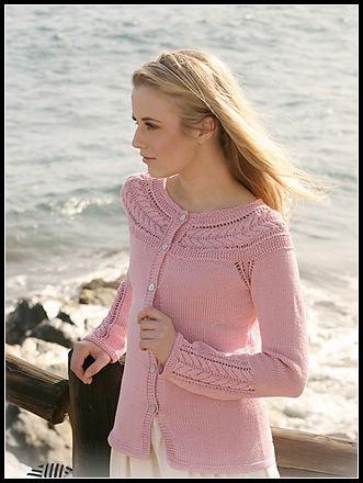 转夏薇-粉红春装圆肩开衫 - thr7677 - 爱编织--冬天的草莓