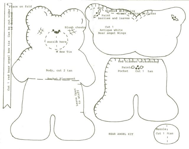 不织布小动物图纸