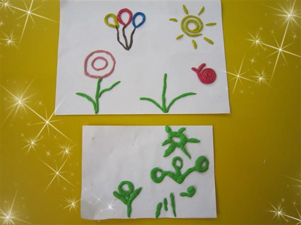 其他小朋友也不要灰心,回家跟爸爸妈妈一起制作出漂亮的橡皮泥画来.