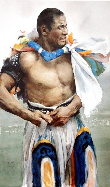 xingwei电影_关维兴  蒙古族摔跤手  guan weixing  mongolian wrestler