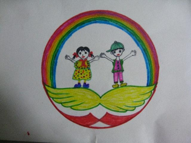 彩虹班徽设计理念