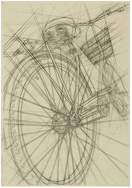 设计结构素描自行车