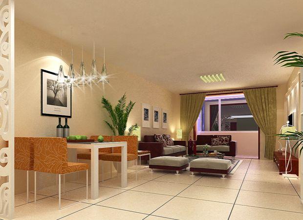 设计说明:客厅和餐厅没有用吊顶和顶角石膏线,同样效果也很好!