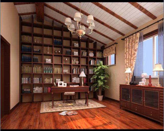 -160平三层别墅美式田园风格主卧室效果图-上海实创装饰 160平三层
