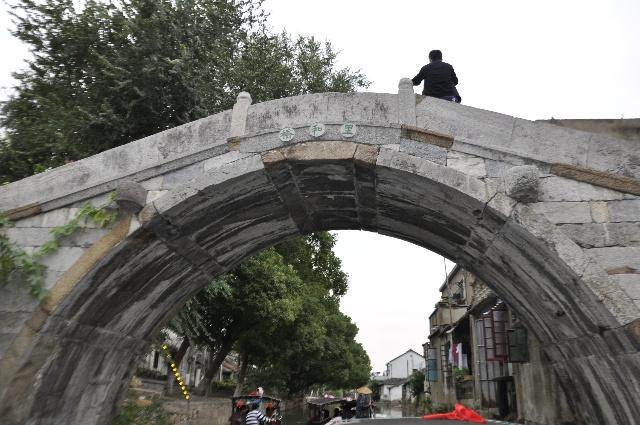 江南石桥手绘图案