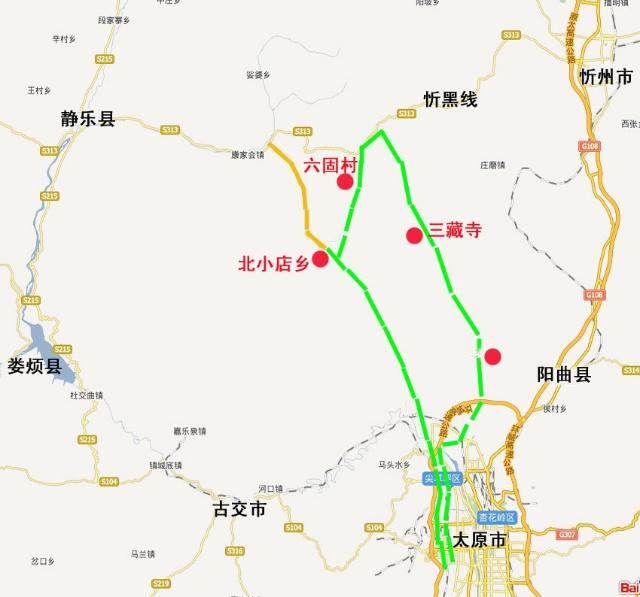 太原阳曲县地图高清