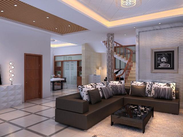 平别墅的深邃空间的详细内容,室内装饰设计施工图纸资料下载
