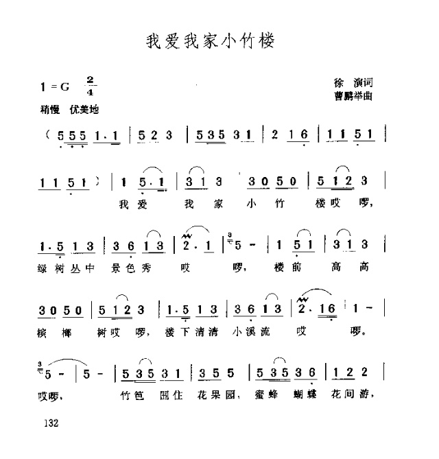 我爱我家小竹楼-曲谱歌谱大全-搜狐博客