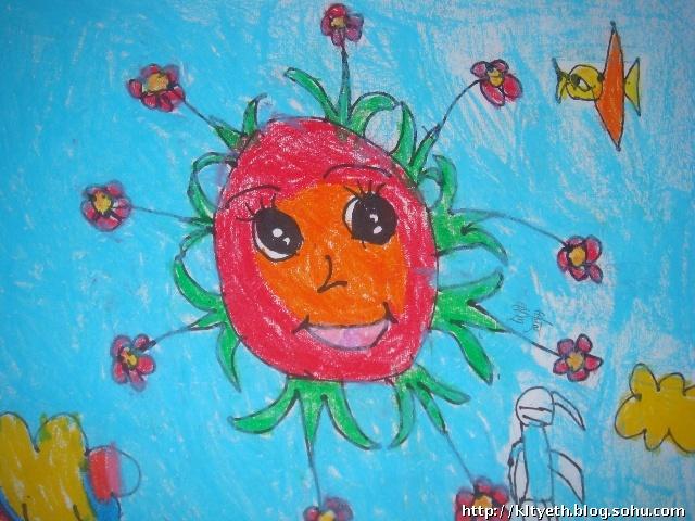 可爱的太阳宝宝-快乐涂鸦儿童画-搜狐博客