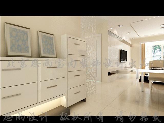85平米两居室现代简约风格北京二手房装修设计效果图