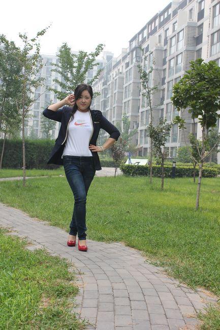 红皮鞋的搭配