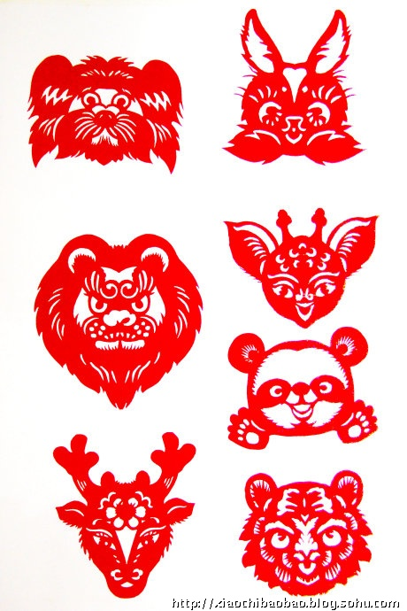 动物对称图形剪纸