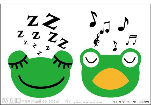 """小鱼儿,月亮快出来吧!"""" 小青蛙蹲在荷叶上,睁着大眼睛,一声不吭."""