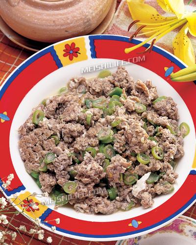 美食中的狂野美味--节日炒厨房-老麦海鲜芸豆虾酱一美食介绍种作文图片