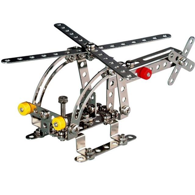 德国益智拼装玩具小型直升飞机